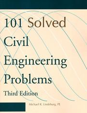 Cover of: 101 solved civil engineering problems