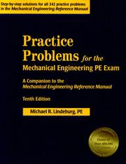 Cover of: Practice Problems for the Mechanical Engineering PE Exam