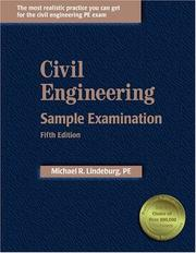 Cover of: Civil Engineering Sample Examination