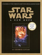 Cover of: Star wars, a new hope