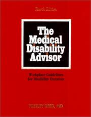 The medical disability advisor by Presley Reed