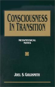 Cover of: Consciousness in transition