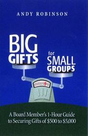 Cover of: Big Gifts For Small Groups | Andy Robinson