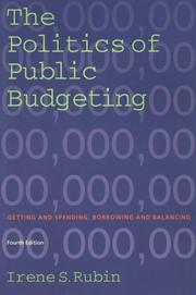 Cover of: The Politics of Public Budgeting