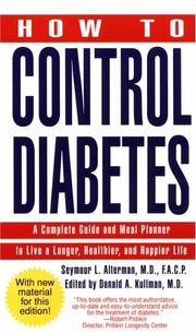 Cover of: How to Control Diabetes | Seymour L. Md Alterman
