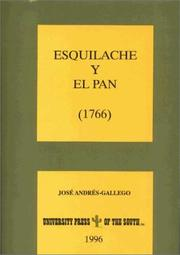 Cover of: Esquilache y el pan, 1766