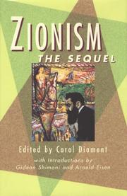 Cover of: Zionism | edited by Carol Diament ; with introductions by Gideon Shimoni and Arnold Eisen.