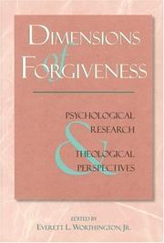 Cover of: Dimensions of forgiveness |