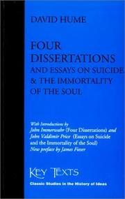 Cover of: Four dissertations