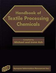 Cover of: Handbook of textile processing chemicals