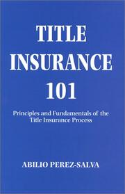 Cover of: Title insurance 101