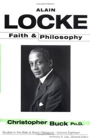 Cover of: Alain Locke | Christopher Buck