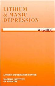 Cover of: Lithium and Manic Depression