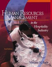 Cover of: Human Resources Management in the Hospitality Industry