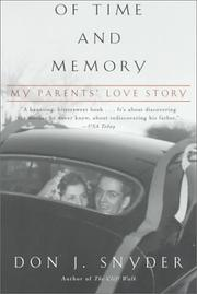 Cover of: Of Time and Memory