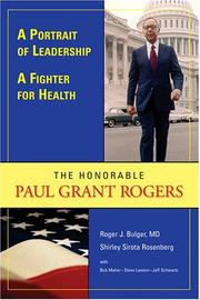 Cover of: A Portrait of Leadership, a Fighter for Health | Roger J. Bulger