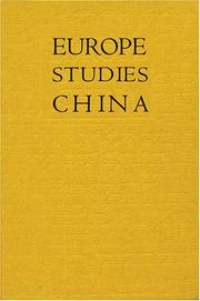 Cover of: Europe Studies China | Ming Wilson