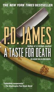 Cover of: A Taste for Death | P. D. James