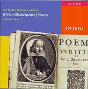 Cover of: Poems by William Shakespeare