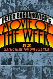 Cover of: Peter Bogdanovich's movie of the week