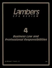 Cover of: Business Law | Michael F. Farrell