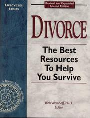 Cover of: Divorce  | Rich Wemhoff