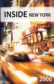 Cover of: Inside New York  2006 | David Seidman