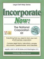 Cover of: Incorporate now!