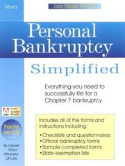 Cover of: Personal bankruptcy simplified