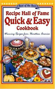 Cover of: Recipe Hall of Fame Quick & Easy Cookbook (Recipe Hall of Fame State Cookbook Series)