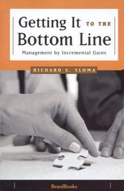 Cover of: Getting it to the bottom line