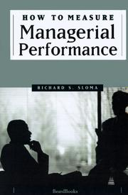 Cover of: How to measure managerial performance
