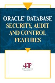 Cover of: Oracle database security, audit and control features. |