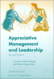 Cover of: Appreciative management and leadership