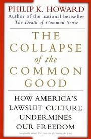 Cover of: The Collapse of the Common Good