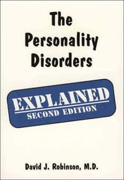 Cover of: The Personality Disorders Explained | David J. Robinson