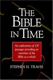Cover of: The Bible In Time | Stephen H. Travis