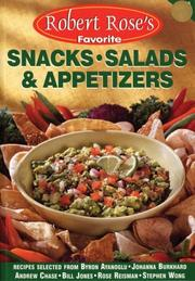 Cover of: Snacks, Salads and Appetizers (Robert Rose