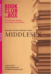 Cover of: Bookclub-in-a-Box Discusses Middlesex, the Novel by Jeffrey Eugenides (Bookclub in a Box Discusses)