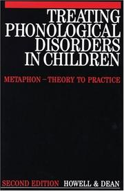 Cover of: Treating Phonological Disorders in Children | Janet Howell