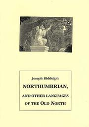 Cover of: Northumbrian, and other languages of the Old North