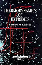 Cover of: Thermodynamics of extremes