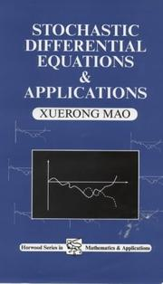 Cover of: Stochastic Differential Equations and Applications