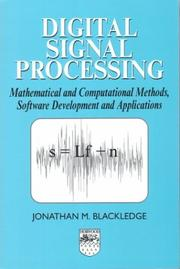 Cover of: Digital Signal Processing | J. M. Blackledge