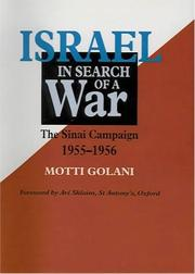 Cover of: Israel in Search of a War | Moti Golani
