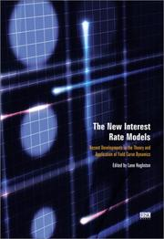 Cover of: The New Interest Rate Models  | Lane Hughston