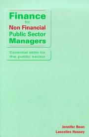 Finance for Non-Financial Public Sector Managers (Essential Skills for the Public Sector) by Jennifer Bean, Lascelles Hussey