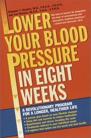 Cover of: Lower Your Blood Pressure in Eight Weeks