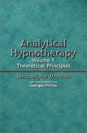 Cover of: Analytical hypnotherapy | Jacquelyne A. Morison