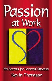 Cover of: Passion at work